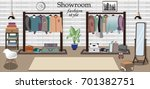 modern graphic showroom... | Shutterstock .eps vector #701382751