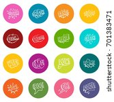 comic colored sound icons many... | Shutterstock .eps vector #701383471