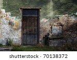 Old Door And Window Of Brick...
