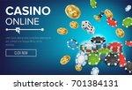 online casino poster vector.... | Shutterstock .eps vector #701384131