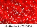 christmas background with snow... | Shutterstock . vector #7013854
