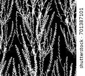 seamless background herb. vector | Shutterstock .eps vector #701387101