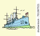 vector illustration of cartoon... | Shutterstock .eps vector #701387521