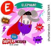 super big set. cute vector zoo...   Shutterstock .eps vector #701387644