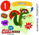 super big set. cute vector zoo... | Shutterstock .eps vector #701387677