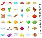 cookery icons set. cartoon... | Shutterstock .eps vector #701388511