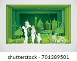 illustration of eco and world... | Shutterstock .eps vector #701389501