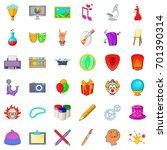 printing icons set. cartoon...   Shutterstock .eps vector #701390314