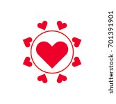 love icon vector | Shutterstock .eps vector #701391901