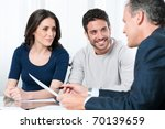 financial consultant presents... | Shutterstock . vector #70139659