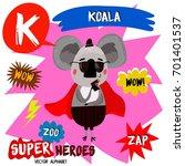 super big set. cute vector zoo... | Shutterstock .eps vector #701401537