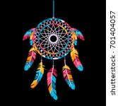 dream catcher  isolated on a...   Shutterstock .eps vector #701404057