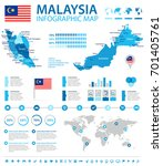 malaysia infographic map and... | Shutterstock .eps vector #701405761