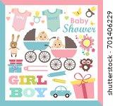 baby shower set | Shutterstock .eps vector #701406229