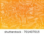 traditional music instruments | Shutterstock .eps vector #701407015