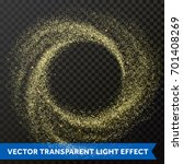 gold glitter particles swirl or ... | Shutterstock .eps vector #701408269