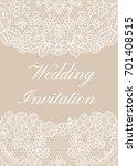 wedding invitation template... | Shutterstock .eps vector #701408515