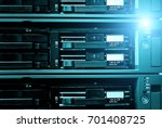 detail of data server with... | Shutterstock . vector #701408725