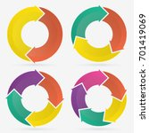 circle arrows infographic... | Shutterstock .eps vector #701419069