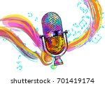 music background with vintage... | Shutterstock .eps vector #701419174