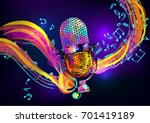 music background with vintage... | Shutterstock .eps vector #701419189