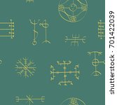 seamless pattern with icelandic ... | Shutterstock .eps vector #701422039