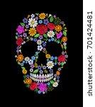 vintage embroidered flower... | Shutterstock .eps vector #701424481