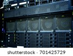 server data center closeup with ... | Shutterstock . vector #701425729