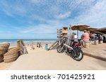 lacanau  france   august 12 ... | Shutterstock . vector #701425921