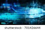 binary circuit future... | Shutterstock . vector #701426644