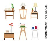 set of different living room... | Shutterstock .eps vector #701430931