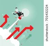 startup business businessman on ... | Shutterstock .eps vector #701432224