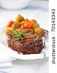 grilled steak with baked...   Shutterstock . vector #70143343