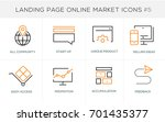 flat line design concept icons... | Shutterstock .eps vector #701435377