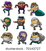cartoon thief icon | Shutterstock .eps vector #70143727