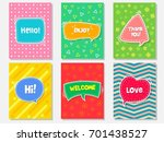 Vector Set Of Cute Cards...