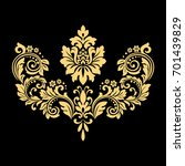 golden  pattern on a black... | Shutterstock . vector #701439829