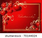valentine's greeting card gold...