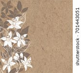 floral background with hand... | Shutterstock .eps vector #701443051