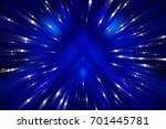 abstract blue fractal... | Shutterstock . vector #701445781