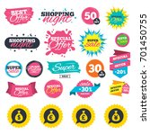 sale shopping banners. money... | Shutterstock .eps vector #701450755