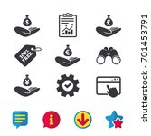 helping hands icons. money...