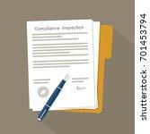 compliance inspection document | Shutterstock .eps vector #701453794