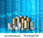 investment concept  coins graph ... | Shutterstock . vector #701466559