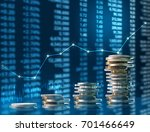 investment concept  coins graph ... | Shutterstock . vector #701466649