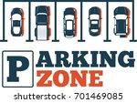 parking zone poster in... | Shutterstock .eps vector #701469085