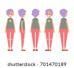 front  side  back view animated ... | Shutterstock .eps vector #701470189