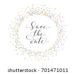 save the date card with glitter ... | Shutterstock .eps vector #701471011