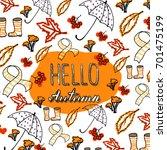 hello autumn. vector... | Shutterstock .eps vector #701475199