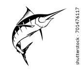 graphic sailfish  vector | Shutterstock .eps vector #701476117